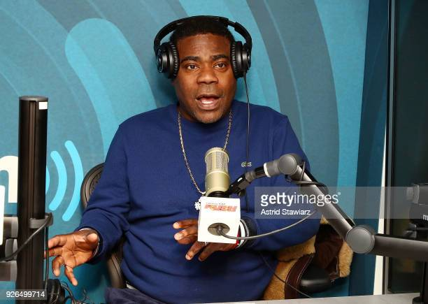 Actor and comedian Tracy Morgan visits the SiriusXM Studios on March 2, 2018 in New York City.