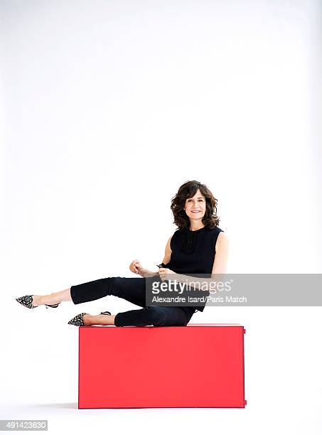 Actor and comedian Valerie Lemercier is photographed for Paris Match on August 31 2015 in Paris France