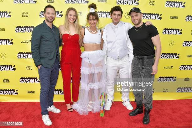 Actor and cowriter Nick Kroll actress Morgan Schild actress and cowriter Alexi Pappas director and cowriter Jeremy Teicher and actor Gus Kenworthy...