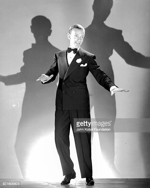 Actor and dancer Fred Astaire for RKO Pictures filming scenes for the movie 'Top Hat' 1935