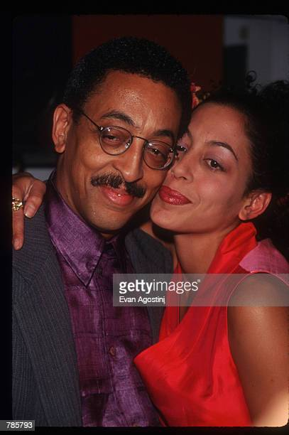 "Actor and dancer Gregory Hines stands with daughter Daria at the ""Alpana Bawa"" boutique in SoHo December 12, 1996 in New York City. Celebrities Laura..."