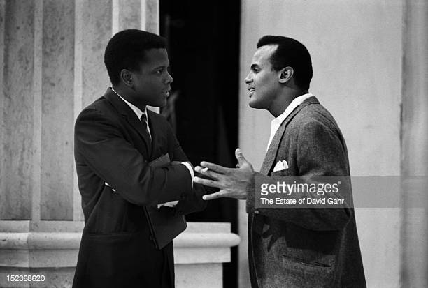 Actor and diplomat Sidney Poitier and singer and activist Harry Belafonte perform on 'The NAACP Freedom Spectacular' a nationwide closedcircuit TV...