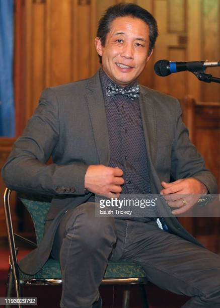 Actor and dirctor Russell Yuen attends Listen and Learn at Kingston Road United Church on December 8 2019 in Toronto Canada