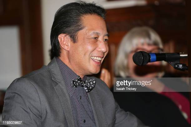 Actor and dirctor Russell Yuen attends Listen and Learn at Kingston Road United Church on December 8, 2019 in Toronto, Canada.