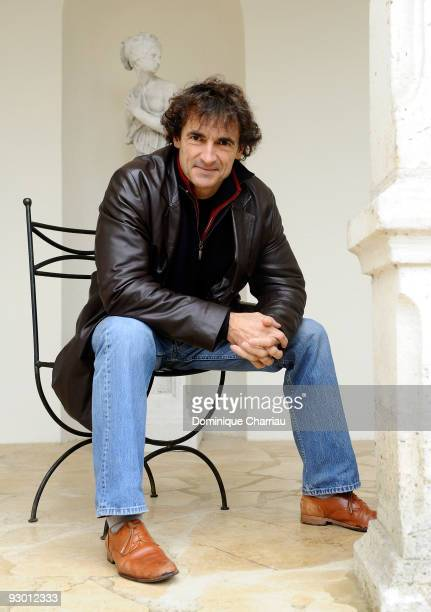 Actor and director Albert Dupontel attends a photocall for his movie 'Le Vilain' during the Sarlat Film Festival on November 12 2009 in...