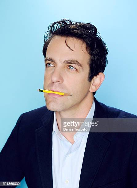 Actor and director B J Novak poses for a portrait at the 2013 D23 Expo on August 6 2013 in Las Vegas Nevada