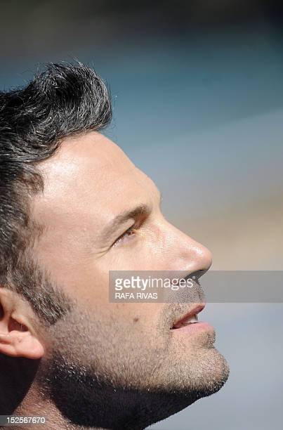 US actor and director Ben Affleck poses after the screening of his film Argo during the 60th San Sebastian International Film Festival on September...