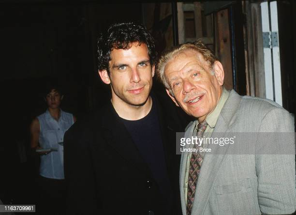 Actor and director Ben Stiller and his father, comedian and actor Jerry Stiller, attend party hosted by NBC at Sconset Playhouse during the Nantucket...