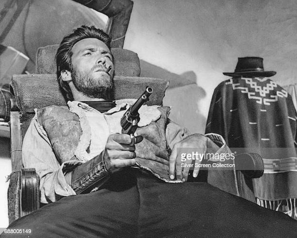 Actor and director Clint Eastwood as Monco in the spaghetti western 'Per qualche dollaro in più' 1965