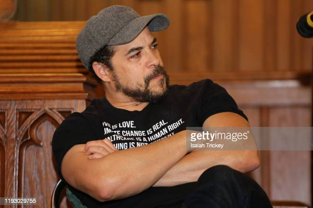 Actor and director Cory Bowles, attends Listen and Learn at Kingston Road United Church on December 8, 2019 in Toronto, Canada.