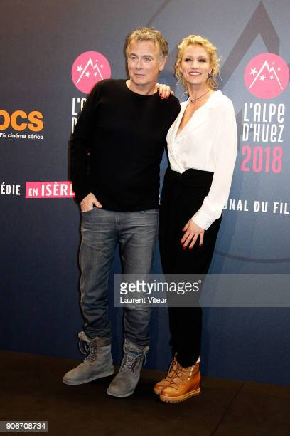 Actor and Director Franck Dubosc and Actress Alexandra Lamy attend 'Tout Le Monde Debout' Premiere during the 21st Alpe D'Huez Comedy Film Festival...