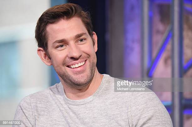 Actor and Director John Krasinski attends the AOL Build presentation of the cast of The Hollars at AOL HQ on August 17 2016 in New York City