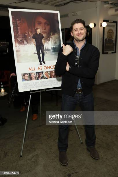 Actor and director Jon Abrahams attends the All At Once New York Premiere at Metrograph on March 28 2018 in New York City