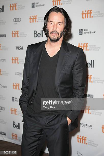 Actor and Director Keanu Reeves arrives at the 'Man Of Tai Chi' Premiere during the 2013 Toronto International Film Festival at Ryerson Theatre on...