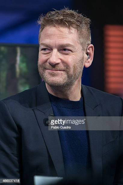 Actor and director Kenneth Branagh attends 'El Hormiguero' Tv show at Vertice Studio on March 16, 2015 in Madrid, Spain.