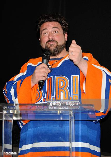 Actor and Director Kevin Smith attends Kevin Smith's SMovieola presents Valley Girl during the Film Society of Lincoln Center launch at Francesca...