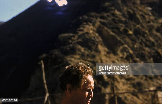 Actor and director Marlon Brando circa 1959 during the filming of 'OneEyed Jacks' in Monterey California