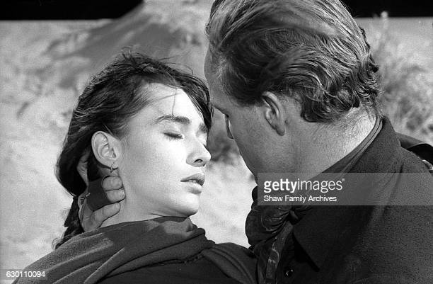 Actor and director Marlon Brando with Pina Pellicer circa 1959 during the filming of 'OneEyed Jacks' in Los Angeles California