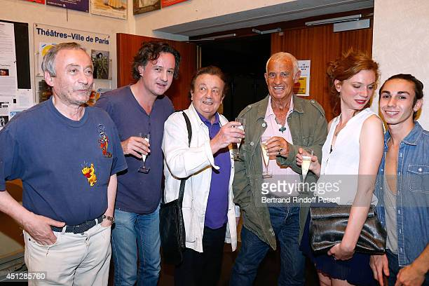 Actor and director of the theater Emmanuel Dechartre actors Mathias Marechal his father Marcel Marechal JeanPaul Belmondo Celine MartinSisteron and...