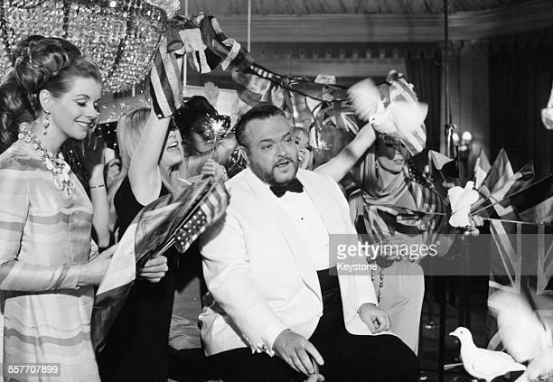 Actor and director Orson Welles as Le Chiffre in a scene from the film 'Casino Royale' circa 1967