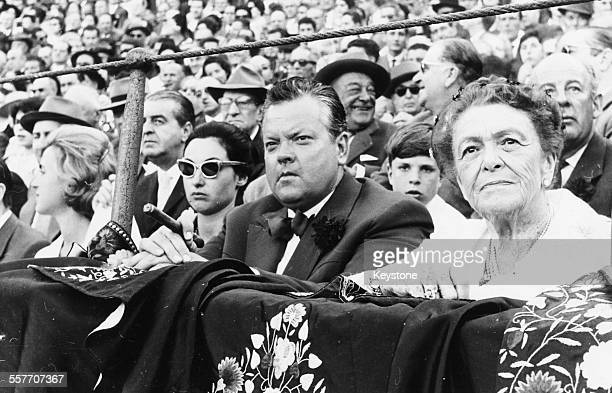 Actor and director Orson Welles sitting on the front row watching the traditional Spring Festival in Seville April 24th 1961
