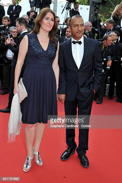 Actor and director Pascal Legitimus and his wife Adriana Santini attend the 'Loving' premiere during the 69th annual Cannes Film Festival at the...