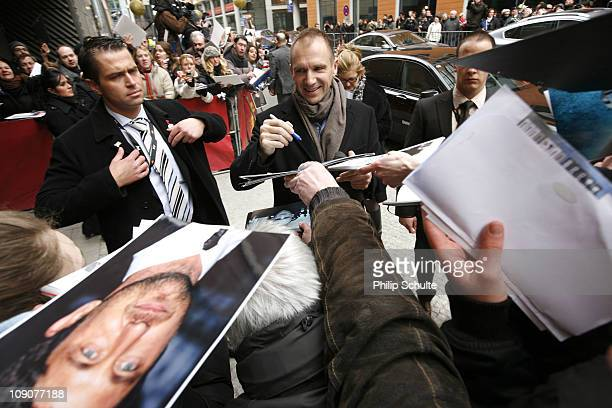 Actor and director Ralph Fiennes arrives at the 'Coriolanus' Photocall during day five of the 61st Berlin International Film Festival at the Grand...