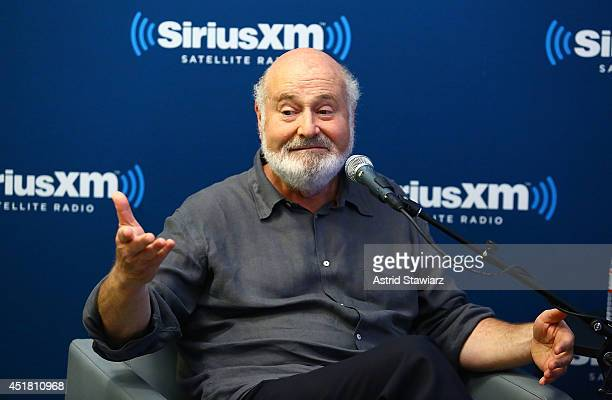 Actor and director Rob Reiner speaks during SiriusXM 'Town Hall' special with host Jessica Shaw, Senior Writer of Entertainment Weekly, on SiriusXM's...