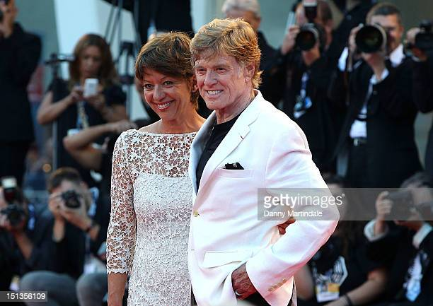 Actor and director Robert Redford and Sibylle Szaggars attend the The Company You Keep premiere at the 69th Venice Film Festival on September 6 2012...