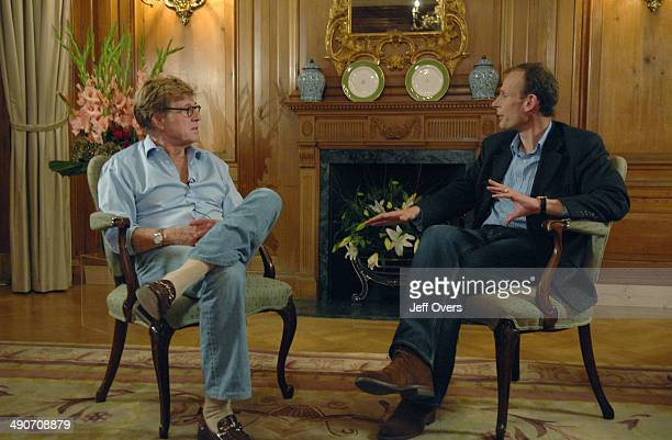 Actor and director Robert Redford appearing with Andrew Marr on The Andrew Marr Show