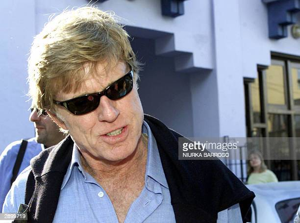 US actor and director Robert Redford arrives to Cuba's Cinemateca for the premier of his last film 'The Motorcycle Diaries' about the Che Guevara's...