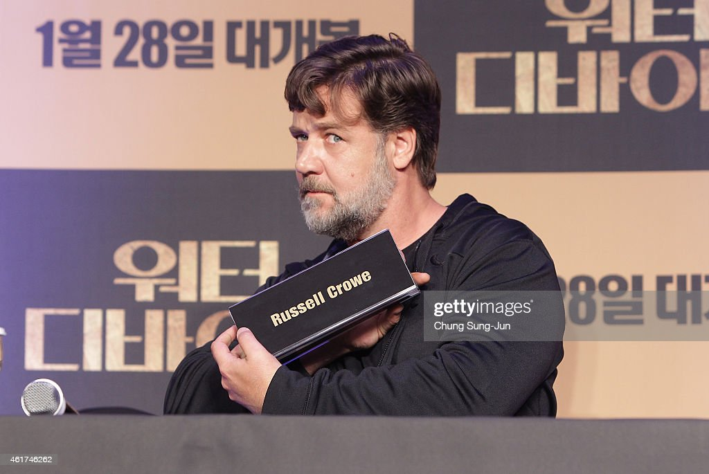"""""""The Water Diviner"""" Press Conference In Seoul : News Photo"""