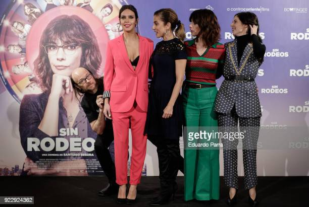 Actor and director Santiago Segura actress Cristina Pedroche actress Toni Acosta actress Maribel Verdu and actress Barbara SantaCruz attend the 'Sin...