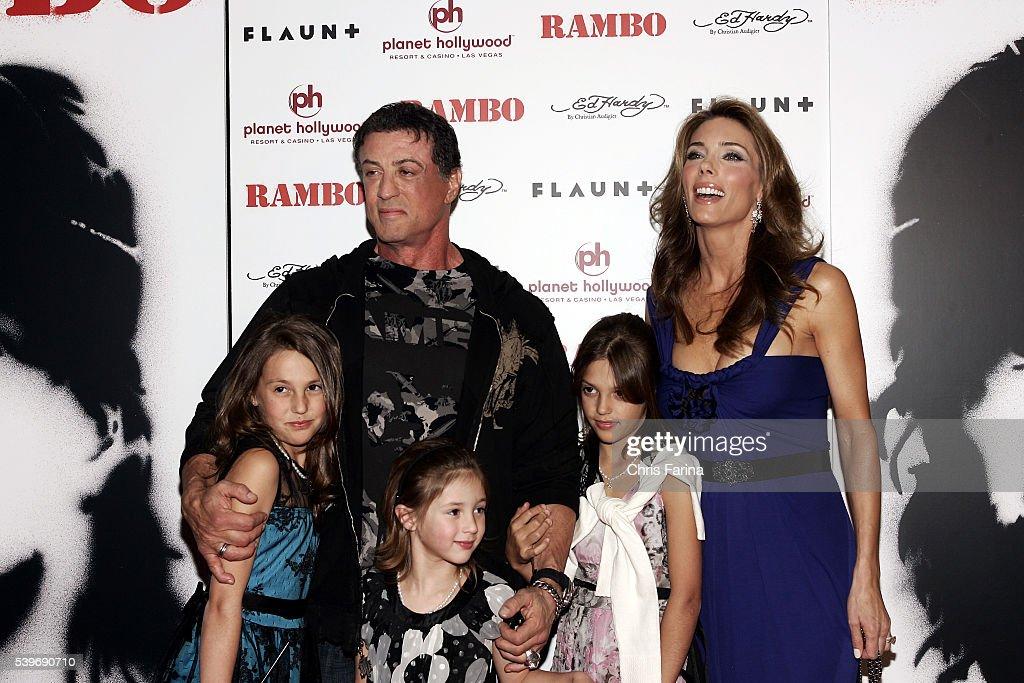 """USA - """"Rambo"""" World Premiere in Las Vegas : Nachrichtenfoto"""