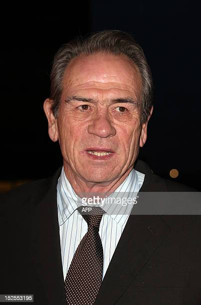 US actor and director Tommy Lee Jones arrives to attend the inauguration ceremony of the Cite du cinema a film studios complex heralded as Hollywood...