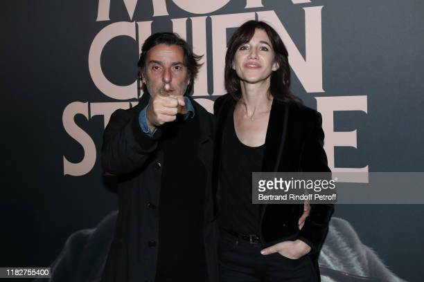 Actor and Director Yvan Attal and his wife actress Charlotte Gainsbourg attend the Mon Chien Stupide premiere at UGC Normandie on October 22 2019 in...