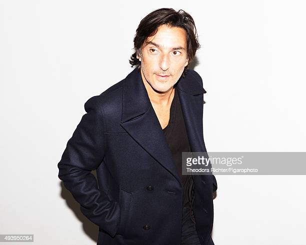 Actor and director Yvan Attal is photographed for Madame Figaro on August 27 2015 in Paris France Coat and tshirt PUBLISHED IMAGE CREDIT MUST READ...