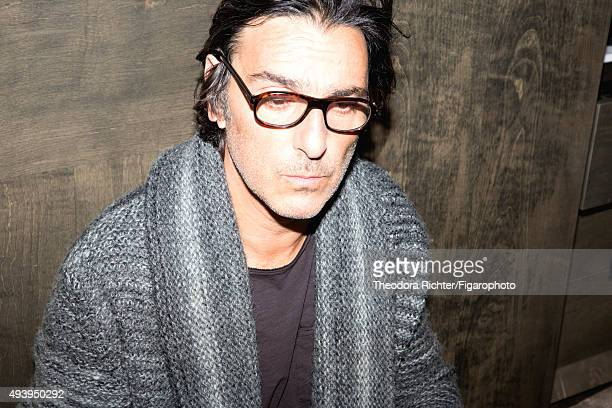 Actor and director Yvan Attal is photographed for Madame Figaro on August 27 2015 in Paris France CREDIT MUST READ Theodora...