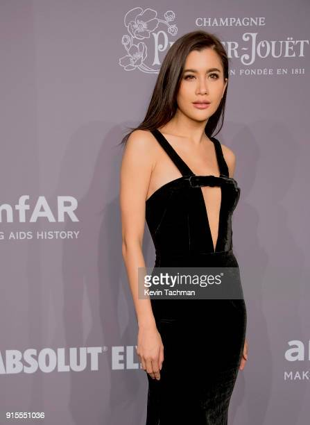 Actor and donor Praya Lundberg attends the 2018 amfAR Gala New York at Cipriani Wall Street on February 7 2018 in New York City