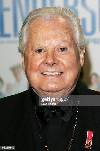 Actor and entertainer Danny La Rue arrives at the UK Premiere of Mrs Henderson Presents at Vue West End on November 23 2005 in London England