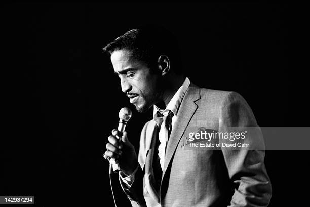 Actor and entertainer Sammy Davis Jr performs on 'The NAACP Freedom Spectacular' a closedcircuit TV broadcast on May 14 1964 in New York City New York
