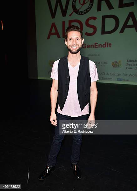 Actor and ETAF Ambassador Danny Pintauro at the special event held at UCLA to commemorate World AIDS Day on December 1 2015 in Los Angeles CA