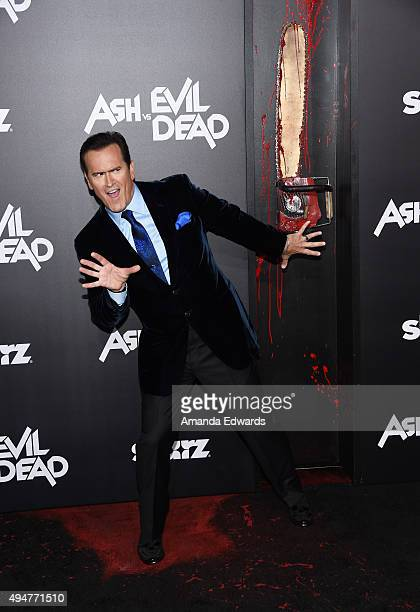 "Actor and executive producer Bruce Campbell arrives at the premiere of STARZ's ""Ash Vs Evil Dead"" at TCL Chinese Theatre on October 28, 2015 in..."