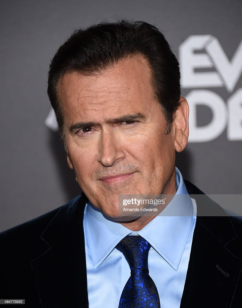 Actor and executive producer Bruce Campbell arrives at the premiere of STARZ's 'Ash Vs Evil Dead' at TCL Chinese Theatre on October 28, 2015 in Hollywood, California.