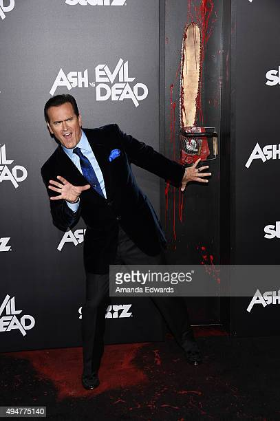 """Actor and executive producer Bruce Campbell arrives at the premiere of STARZ's """"Ash Vs Evil Dead"""" at TCL Chinese Theatre on October 28, 2015 in..."""