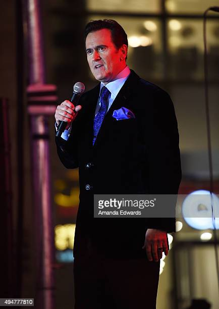 """Actor and executive producer Bruce Campbell attends the premiere of STARZ's """"Ash Vs Evil Dead"""" at TCL Chinese Theatre on October 28, 2015 in..."""
