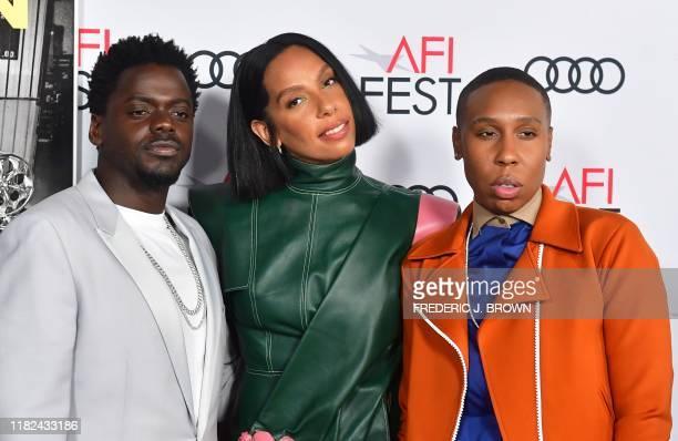 Actor and Executive Producer Daniel Kaluuya Director/Producer Melina Matsoukas and Writer/Producer Lena Waithe arrive for the AFI Opening Night Gala...