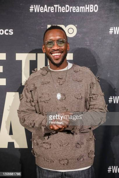 """Actor and Executive Producer Mahershala Ali poses for a photo on the red carpet for """"We Are The Dream"""" on February 11, 2020 in Oakland, California."""