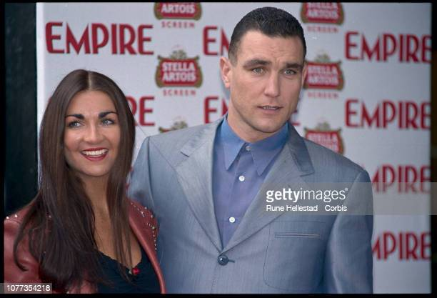 Actor and exsoccer player Vinnie Jones with his wife at the Empire Awards Lock Stock and Two Smoking Barrels 1998