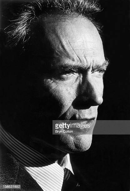Actor and film director Clint Eastwood speaks at an event while campaigning for the position of Mayor of Carmel after announcing his candidacy to run...
